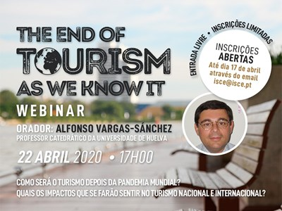 "Webinar ""The end of Tourism as we know it"""